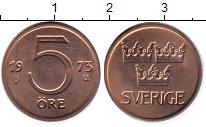 Изображение Барахолка Швеция 5 эре 1973 Медь UNC