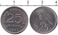 Изображение Дешевые монеты Индонезия 25 рупий 1971 Медно-никель UNC