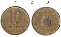 Изображение Дешевые монеты Аргентина 10 сентаво 1992 Медь XF