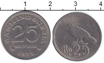 Изображение Дешевые монеты Индонезия 25 рупий 1971 Медно-никель XF