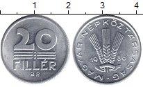 Изображение Барахолка Венгрия 20 филлеров 1986 Алюминий XF