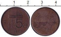 Изображение Барахолка Нидерланды 5 центов 1989 Медь XF