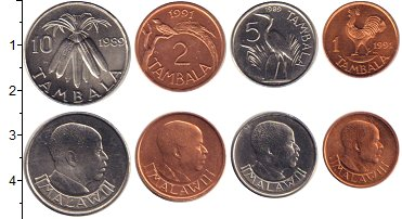 Изображение Наборы монет Малави Малави 1989-1991 0  UNC В наборе 4 монеты но