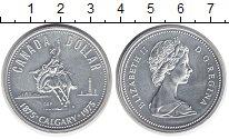 Изображение Монеты Канада 1 доллар 1975 Серебро UNC-