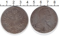 Изображение Монеты Австрия 1 талер 1780 Серебро VF Мария-Терезия (рестр