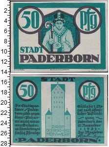 Изображение Банкноты Германия : Нотгельды 50 пфеннигов 1921  XF Падерборн