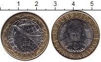Изображение Монеты Сан-Марино 1000 лир 2000 Биметалл UNC- Голубь мира