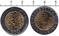 Изображение Монеты Сан-Марино 500 лир 1999 Биметалл UNC-