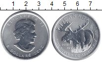 Изображение Мелочь Канада 5 долларов 2012 Серебро UNC- Елизавета II. Лось