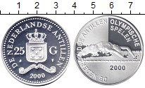 Изображение Монеты Антильские острова 25 гульденов 2000 Серебро Proof- Олимпийские игры 200