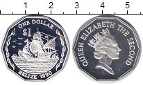 Изображение Монеты Белиз 1 доллар 1990 Серебро Proof
