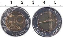Изображение Мелочь Финляндия 10 марок 1995 Биметалл UNC