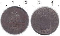Изображение Монеты Саксония 20 пфеннигов 1841 Серебро VF
