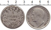 Изображение Монеты Германия Вюртемберг 1 гульден 1843 Серебро XF-