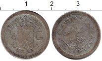 Изображение Монеты Нидерландская Индия 1/4 гульдена 1914 Серебро VF-