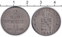 Изображение Монеты Саксония 2 гроша 1841 Серебро XF