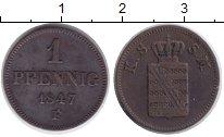 Изображение Монеты Германия Саксония 1 пфенниг 1847 Медь XF