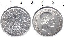 Изображение Монеты Саксония 2 марки 1907 Серебро UNC- Фридрих Август.  Е.