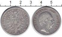 Изображение Монеты Германия Саксония 2 марки 1876 Серебро VF