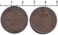 Изображение Монеты Гессен-Кассель 3 хеллера 1859 Медь VF