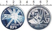Изображение Монеты Франция 20 евро 2009 Серебро UNC- Густав Эйфель