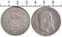 Изображение Монеты Вюртемберг 3 марки 1914 Серебро XF+