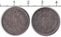 Изображение Монеты Германия 1/2 марки 1918 Серебро XF J