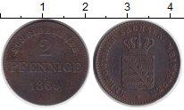 Изображение Монеты Саксен-Майнинген 2 пфеннига 1869 Медь XF Георг II