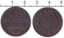 Изображение Монеты Германия Саксен-Майнинген 1 крейцер 1833 Медь VF