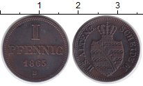 Изображение Монеты Саксе-Альтенбург 1 пфенниг 1865 Медь XF Йозеф