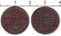Изображение Монеты Саксен-Майнинген 2 пфеннига 1833 Медь XF Бернхард II