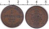 Изображение Монеты Германия Саксония 5 пфеннигов 1867 Медь XF
