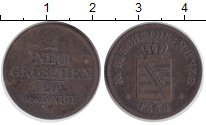 Изображение Монеты Саксония 2 гроша 1856 Серебро XF