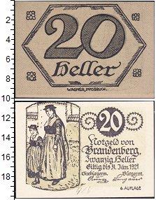 Изображение Банкноты Германия : Нотгельды 20 геллеров 1921  XF