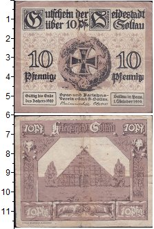 Изображение Банкноты Германия : Нотгельды 10 пфеннигов 1919  XF Выпуск 1 октября 191