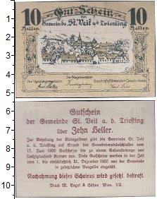 Изображение Банкноты Германия : Нотгельды 10 геллеров 1920  XF