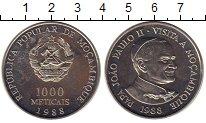 Изображение Монеты Мозамбик 1000 метикаль 1988 Медно-никель UNC- Визит Иоанна Павла I