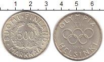 Изображение Монеты Финляндия 500 марок 1952 Серебро UNC- Олимпиада в Хельсинк