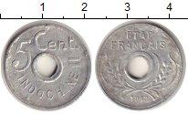 Изображение Монеты Индокитай 5 центов 1943 Алюминий XF