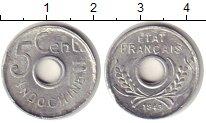 Монета Индокитай 5 центов Алюминий 1943 XF фото