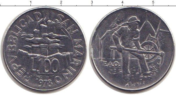 Картинка Монеты Сан-Марино 100 лир Сталь 1978
