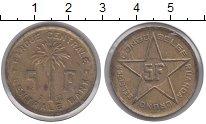 Изображение Монеты Бельгийское Конго 5 франков 1952 Латунь XF