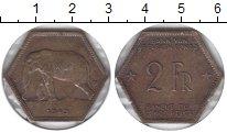 Изображение Монеты Бельгийское Конго 2 франка 1943 Латунь XF