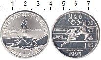 Изображение Монеты США 1 доллар 1995 Серебро UNC-