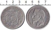 Изображение Монеты Франция 5 франков 1868 Серебро VF Наполеон III