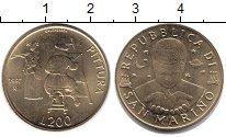 Изображение Монеты Сан-Марино 200 лир 1997 Латунь XF Живопись