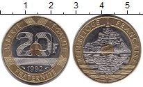 Изображение Монеты Франция 20 франков 1992 Биметалл UNC
