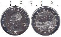 Изображение Монеты Мальта 2 фунта 1977 Серебро Proof- Луиджи Презиоси.