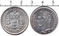 Изображение Монеты Венесуэла 2 боливара 1960 Серебро UNC- Боливар - Освободите