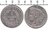 Изображение Монеты Франция 5 франков 1851 Серебро VF А